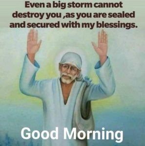 Sai Baba Images with Good Morning Quotes