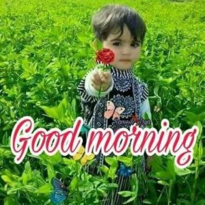 Baby Good Morning Images in Hindi HD