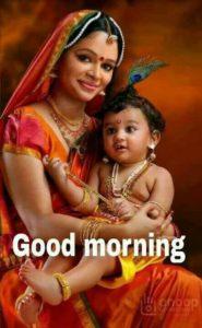 Good Morning Baby Krishna Image