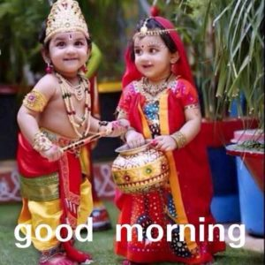 Good Morning Image Baby Krishna