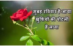Good Morning Images in Hindi Happy Sunday