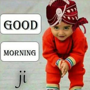 Good Morning Ji Kids Images in Hindi
