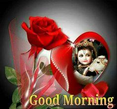 Good Morning Shri Krishna Image