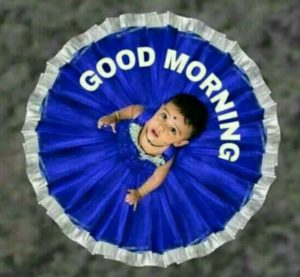 Indian Baby Good Morning Images in Hindi