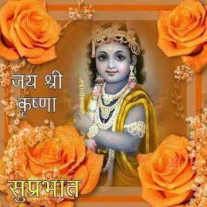 Jai Shree Krishna Good Morning Image Quote