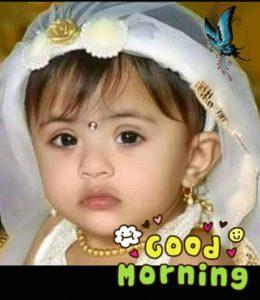 Kids Good Morning Wallpaper in Hindi