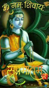 Om Namah Shiva Good Morning Image Hindi