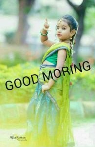 Baby Girl Cute Morning Image Wishes