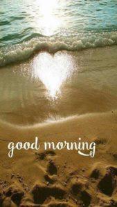 Beach Romantic Good Morning Image Status