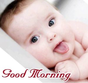 Cute Baby Gud Mrng Image Pics