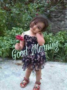Cute Girl Wishing You Good Morning