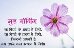 Flower Gud Mrng Image in Hindi