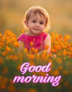 Good Morning Wishing Girl Cute