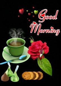 Gud Mrng Image with Cup of Tea