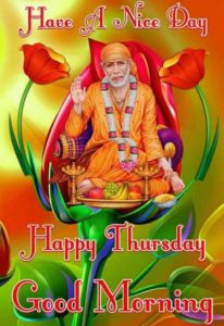 Guruwar Good Morning Sai Baba Thrusday Image