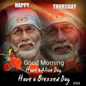 Happy Thrusday Good Morning Sai Baba Images