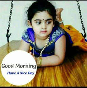 Hindi Good Morning Image by Baby Girl