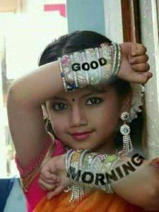 Indian Traditional Girl Good Morning Image