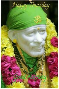 Thrusday Good Morning Sai Baba Images