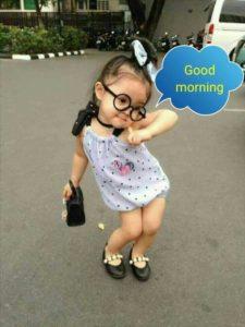 Very Cute Girl Good Morning Image